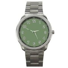 Army Green Sport Metal Watch by snowwhitegirl
