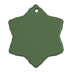 Army Green Ornament (snowflake) by snowwhitegirl