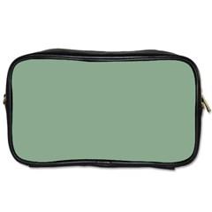 Mossy Green Toiletries Bags 2 Side by snowwhitegirl