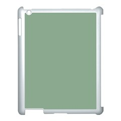 Mossy Green Apple Ipad 3/4 Case (white) by snowwhitegirl