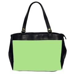 Pistachio Taste Office Handbags (2 Sides)  by snowwhitegirl