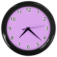 Purple Whim Wall Clocks (black) by snowwhitegirl
