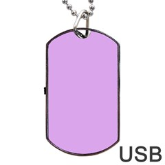 Purple Whim Dog Tag Usb Flash (one Side) by snowwhitegirl