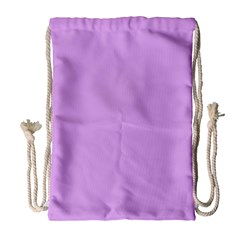 Purple Whim Drawstring Bag (large) by snowwhitegirl
