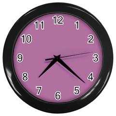 Silly Purple Wall Clocks (black) by snowwhitegirl