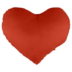 Dark Papaya Large 19  Premium Flano Heart Shape Cushions by snowwhitegirl
