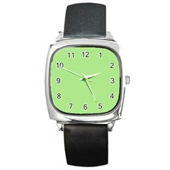 Meadow Green Square Metal Watch by snowwhitegirl