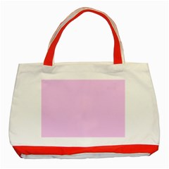 Soft Pink Classic Tote Bag (red) by snowwhitegirl