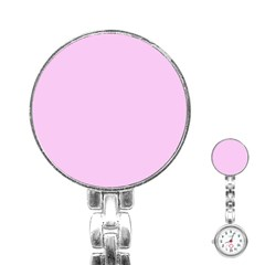 Soft Pink Stainless Steel Nurses Watch by snowwhitegirl