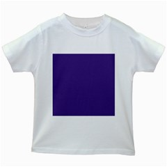 Dark Grape Purple Kids White T Shirts
