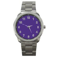 Dark Grape Purple Sport Metal Watch by snowwhitegirl