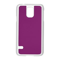 Grape Purple Samsung Galaxy S5 Case (white) by snowwhitegirl