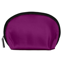 Grape Purple Accessory Pouches (large)  by snowwhitegirl