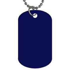 Dark Navy Dog Tag (two Sides) by snowwhitegirl
