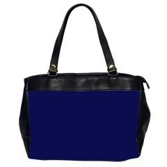 Dark Navy Office Handbags (2 Sides)  by snowwhitegirl