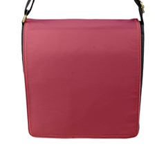 Pink Mauve Flap Messenger Bag (l)  by snowwhitegirl