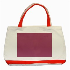 Rose Grey Classic Tote Bag (red) by snowwhitegirl