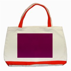 Grape Juice Classic Tote Bag (red) by snowwhitegirl