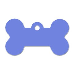 Lake Blue Dog Tag Bone (one Side) by snowwhitegirl