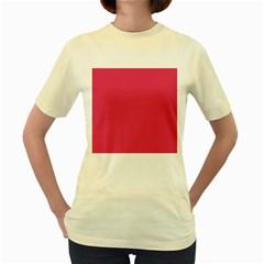 Rosey Day Women s Yellow T Shirt by snowwhitegirl