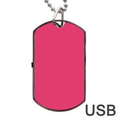 Rosey Day Dog Tag Usb Flash (two Sides) by snowwhitegirl