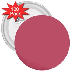 Rosey 3  Buttons (100 Pack)