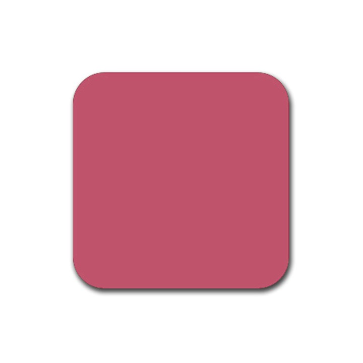 Rosey Rubber Square Coaster (4 pack)