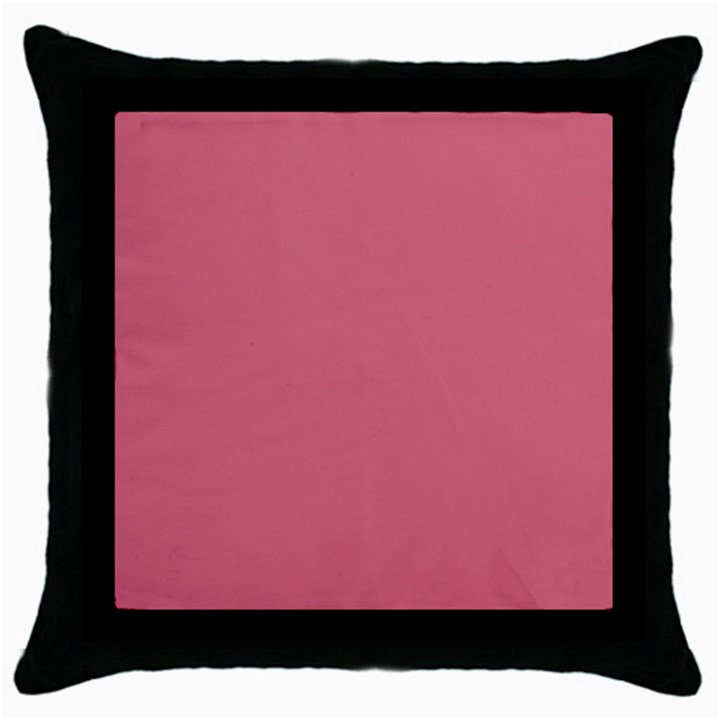 Rosey Throw Pillow Case (Black)