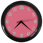 Rosey Wall Clocks (Black) Front