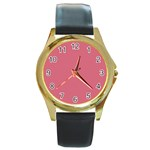 Rosey Round Gold Metal Watch Front