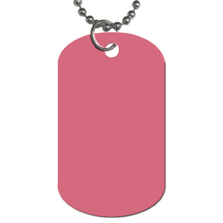 Rosey Dog Tag (One Side)