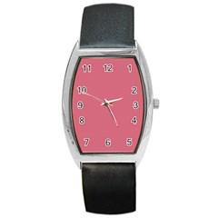 Rosey Barrel Style Metal Watch