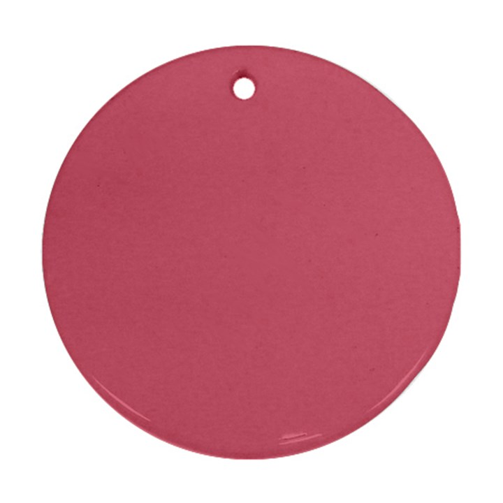 Rosey Round Ornament (Two Sides)