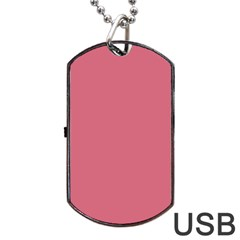 Rosey Dog Tag Usb Flash (one Side) by snowwhitegirl