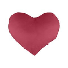 Rosey Standard 16  Premium Flano Heart Shape Cushions
