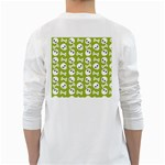 Skull Bone Mask Face White Green White Long Sleeve T-Shirts Back