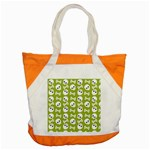 Skull Bone Mask Face White Green Accent Tote Bag Front