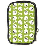 Skull Bone Mask Face White Green Compact Camera Cases Front
