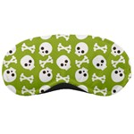 Skull Bone Mask Face White Green Sleeping Masks Front