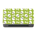 Skull Bone Mask Face White Green Memory Card Reader with CF Front