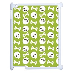 Skull Bone Mask Face White Green Apple Ipad 2 Case (white)