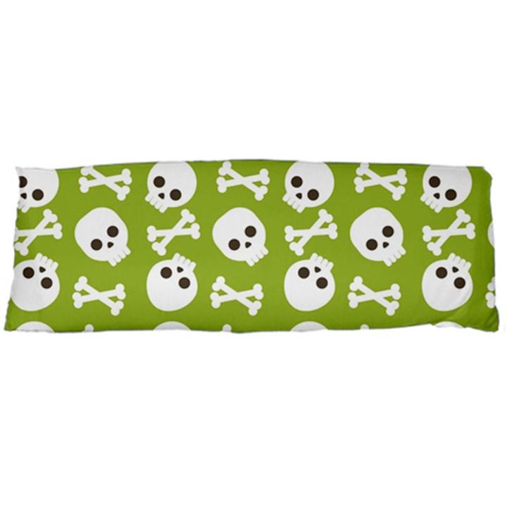 Skull Bone Mask Face White Green Body Pillow Case Dakimakura (Two Sides)