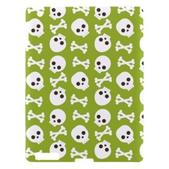 Skull Bone Mask Face White Green Apple Ipad 3/4 Hardshell Case by Alisyart