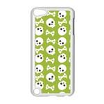 Skull Bone Mask Face White Green Apple iPod Touch 5 Case (White) Front