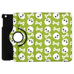 Skull Bone Mask Face White Green Apple Ipad Mini Flip 360 Case