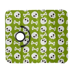 Skull Bone Mask Face White Green Galaxy S3 (flip/folio)