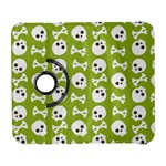 Skull Bone Mask Face White Green Galaxy S3 (Flip/Folio) Front
