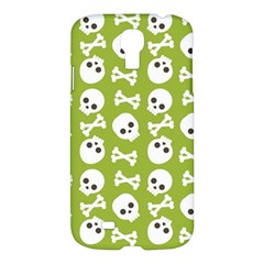 Skull Bone Mask Face White Green Samsung Galaxy S4 I9500/i9505 Hardshell Case