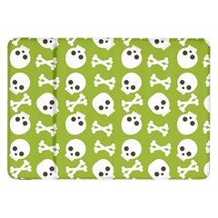Skull Bone Mask Face White Green Samsung Galaxy Tab 8 9  P7300 Flip Case