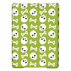 Skull Bone Mask Face White Green Ipad Air Hardshell Cases
